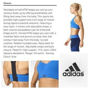 48d1229875a53 adidas Intimates   Sleepwear - NEW! Adidas CMMTTD chill sports bra in royal  blue